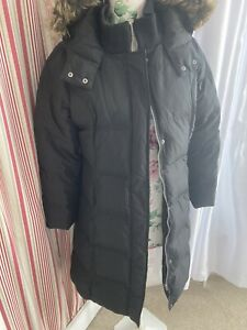 M&S Per Una Padded Duck Down & Feather hooded Coat Jacket size Medium 12/14