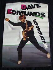 Dave Edmonds Album poster Information original record store promo 1983