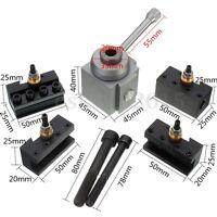 Quick Change Tool Post Holder Set for 7 x10 12 14 Mini Lathe Turning Tool Holder