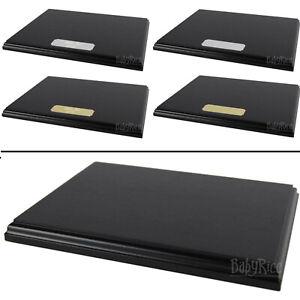 Black Wood Grain Display Plinth Base Blank / Engraved Plaque 8x6 8x10 10x12 size