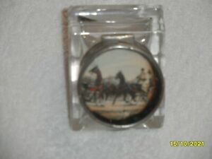 """ANTIQUE """"HORSE & CARRIAGE"""" INKWELL"""
