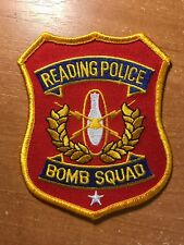 POLICE PATCH READING BOMB SQUAD PENNSYLVANIA PA STATE