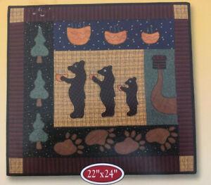 "Hot Porridge Three Bears Picture Quilt Kit Quilt Collection 22"" x 24"""