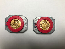 MIGHTY MORPHIN POWER RANGERS PLASTIC MADALION BELT CLIP TOY All Coins/2 Clips!