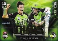 17-18 Cummins Blackwell BBL Big Bash DUOS SUBSET Card Sydney Thunder #TD-08