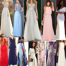 Womens Formal Long Chiffon Prom Evening Party Bridesmaid Wedding Maxi Dress NEY
