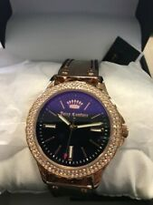 Juicy Couture JC/1008IRBK Black Label Womens Swarovski Crystal Accented Watch