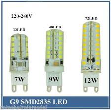 Lampadina lampada in silicone compatta luce calda o solare  7W 9W 12W G9 SMD2835