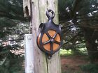 VINTAGE CAST IRON BARN PULLEY OLD FARM TOOL RUSTIC