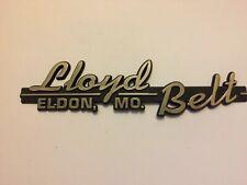 Plastic Lloyd Belt Eldon, MO Car Dealership Emblem Badge Nameplate