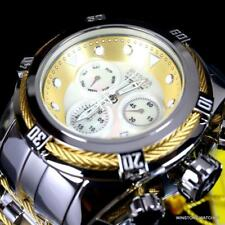 Invicta Bolt Zeus White MOP Two Tone Stainless Steel 52mm Swiss Mvt Watch New