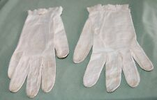 Antique Ladies White Soft Thin Leather Gloves Fashion Doll Shoes Costume Play