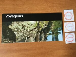 Voyageurs National Park Unigrid Brochure Map and Passport stamps