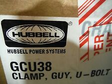 Hubbell (Gcu38) Clamp, Guy, U-Bolt (10pcs)