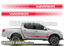 Mitsubishi L200 030 side racing stripes stickers decals graphics WARRIOR