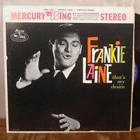Frankie Laine That's My Desire LP Mercury Wing stereo EX