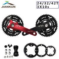 3X10S Triple Speed Chainset 104/64bcd MTB Bike Chainring Crank set BB 24/32/42T