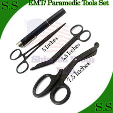 Black Emt Paramedic Tools Medical Bandage Scissors Shears Penlight Hemostat
