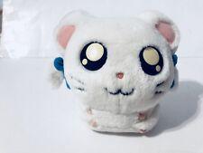 2002 Hasbro Hamtaro Bijou Ham Ham 10 Inch Plush White Girl Hamster Blue Bows