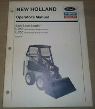 New Holland L250 L255 Skid Steer Loader Operation Amp Maintenance Book Manual