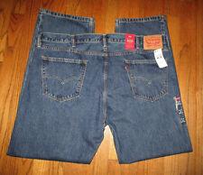 Men's LEVI'S 505 Regular Straight Leg Med. Wash Jeans Sz 44x32 NWT