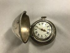 Rare 18th Century Silver Pear Cased Pocket Watch