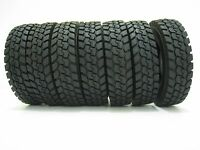 RC 4Pcs Rubber Tires For Tamiya 1:14 Scale Tractor Truck Trailer Climbing Car