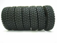 4 x Rubber Tires Tyres Set For Tamiya 1:14 Tractor Truck Trailer Climbing Car