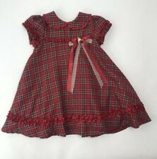 Rare Editions Red Plaid Christmas Holiday Dress Toddler Girl 2T Fancy Tulle Xmas