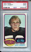 1976 Topps Football #220 Jack Lambert Rookie Card RC Graded PSA MINT 9 Steelers