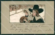 Ethel Parkinson Christmas New Year Greetings MM Vienne 165 postcard QT6964