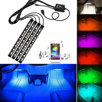 12V RGB 36 LED USB Car Interior LED Strip Lights APP Music Voice Control