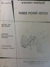 Sears 3 Point Hitch Amp Disc Harrow Lawn Garden Tractor Owner Amp Parts 2 Manual S