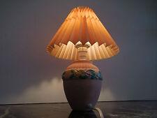 lampe chevet pied céramique peint à la main design XXème CURIOSITY by PN