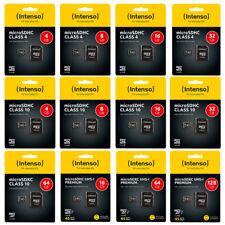 Intenso Micro SD Karte Speicherkarte 4GB - 512GB SDHC SDXC UHS microSD Memory TF