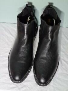 Livergy Black Leather Chelsea Boots UK 10 BNWB
