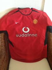 NIKE MANCHESTER UNITED FOOTBALL CLUB SHORT SLEEVE SOCCER JERSEY SIZE XL MENS