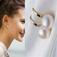 Fashion 1 Pair Women Lady Elegant Pearl Crystal Rhinestone Ear Stud Earrings UK