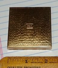 vintage gold makeup compact with mirror