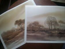 "2 Stephen Oliver Numbered Prints-Rosenstiel's Widow-1980-14""x17""Tranquil/Misty"