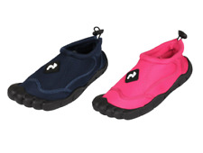 TWO BARE FEET Aqua Shoes Rubber Toes - Wet Water Shoes Toggle Unisex Neoprene