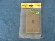 Unicom stainless cover plate Cat5e Ethernet Single Gang 1 Port