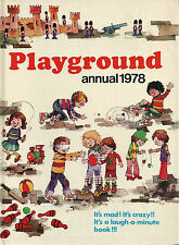 VINTAGE PLAYGROUND ANNUAL 1978 ILLUSTRATED CHILDREN'S PICTURE BOOK HARDCOVER