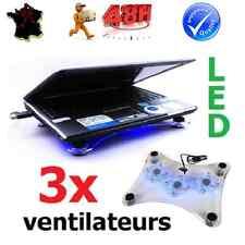 VENTILATEUR REFROIDISSEUR ORDINATEUR PC PORTABLE LAPTOP 3 VENTILATEURS LED USB