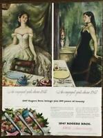 1947 Print Ad 100th Anniversary 1847 Rogers Bros Silverplate Flatware
