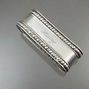 Antique Edwardian Era Napkin Ring circa 1910 - Sterling Silver by Webster, Harry