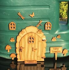 Fairy Door Deluxe Kit With Mirrored Acrylic Windows + More Ready To Paint