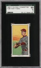 Rare 1909-11 T206 Tony Thebo Old Mill Southern League Waco SGC 60 / 5 EX
