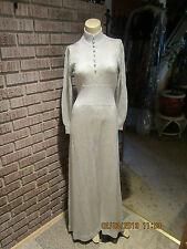 Women's Vintage 60's 70's Ian By Shayne White/Silver Metallic Sweater Dress S