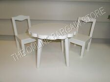 Pottery Barn Kids Baby Doll Flower Table Chairs Girls Simply White American